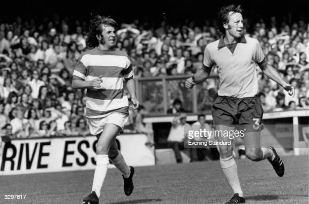 Queens Park Rangers footballer Stan Bowles in action