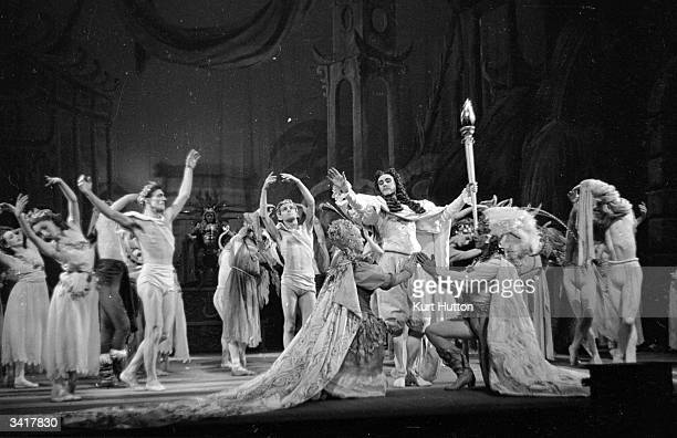 Stage actors performing in Henry Purcell's 'The Fairy Queen' Original Publication Picture Post 4281 The Fairy Queen pub 1946