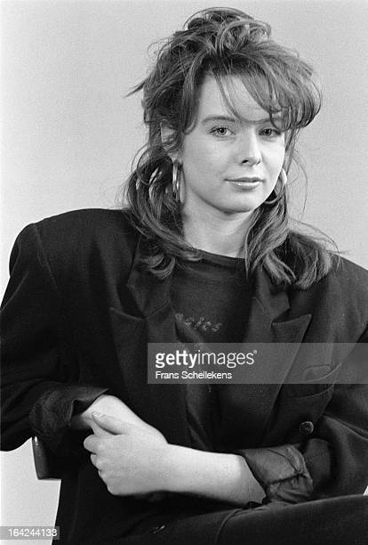 Dutch sax player Candy Dulfer poses in a studio in Amsterdam Netherlands on 28th February 1988