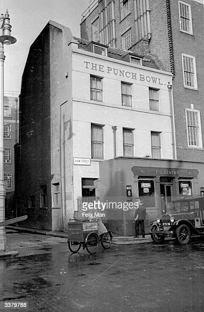 The Punch Bowl in Farm Street traditional haunt of chauffeurs and butlers to the wealthy inhabitants of Mayfair Original Publication Picture Post 80...