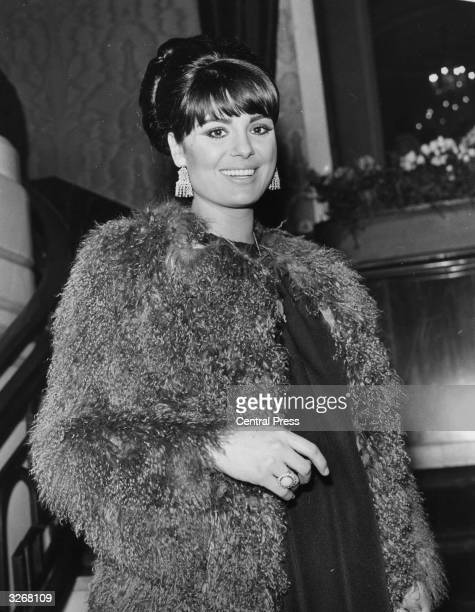 Israeli actress Daliah Lavi arriving for the gala premiere of 'The Night Of The Generals' at the Odeon Leicester Square London