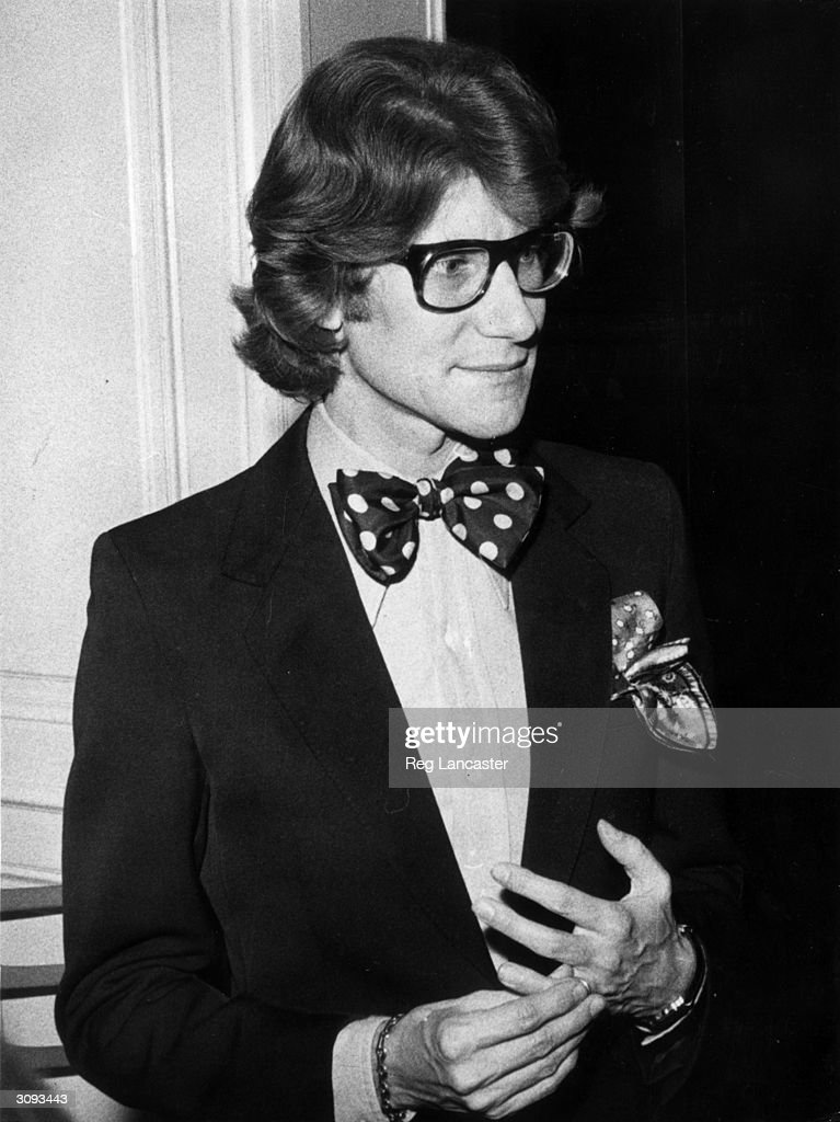 French fashion designer Yves St Laurent