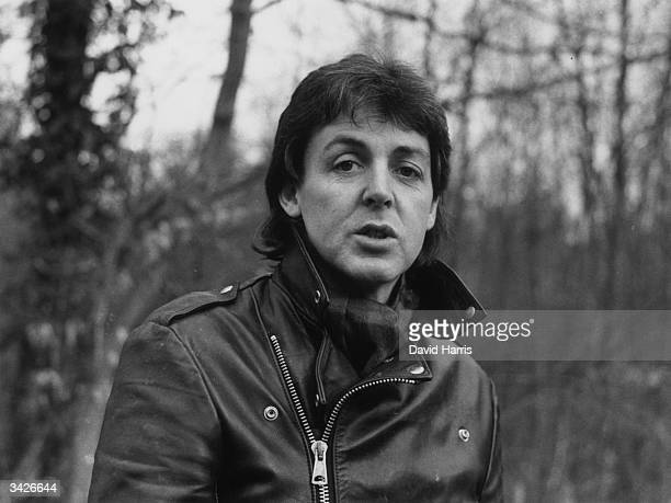 English songwriter and pop star Paul McCartney on his farm near Rye Sussex