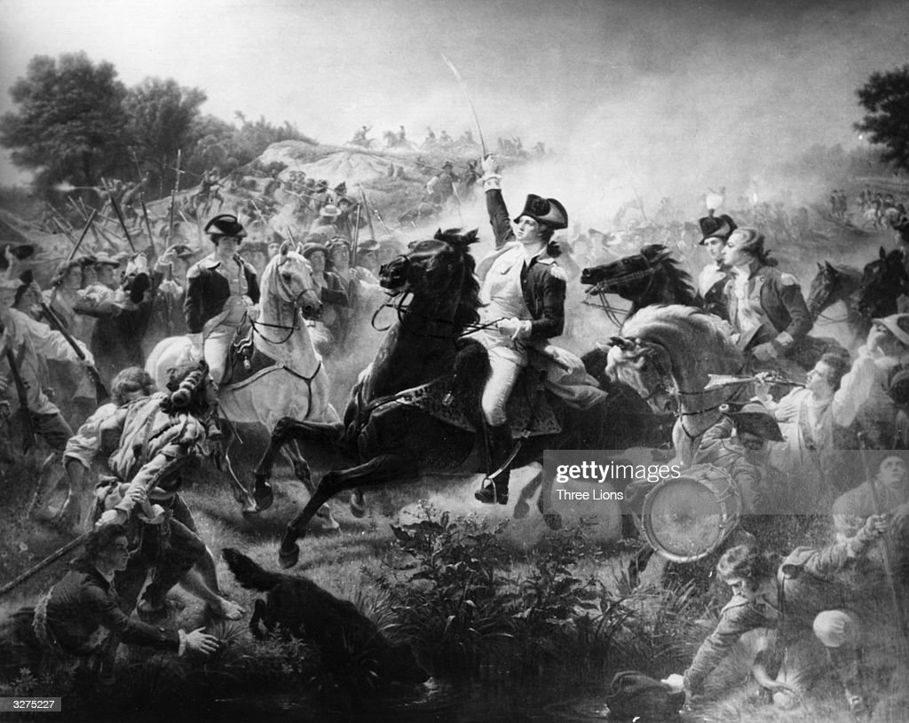 George Washington at the Battle of Monmouth in New Jersey during the American Revolutionary War