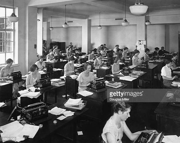 Personnel of the Correspondence Department of the Milk Marketing Board at Thames House London