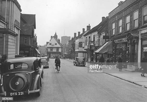 A shopping street in St Albans Hertfordshire