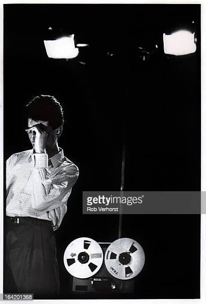 Singer Dave Gahan from English group Depeche Mode performs live on stage at Lantaren/Het Venster in Rotterdam Netherlands on 28th March 1982