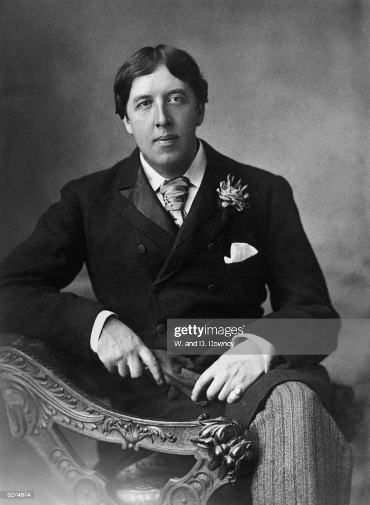 Irish playwright, novelist, essayist, poet and wit <a gi-track='captionPersonalityLinkClicked' href=/galleries/search?phrase=Oscar+Wilde&family=editorial&specificpeople=240419 ng-click='$event.stopPropagation()'>Oscar Wilde</a> (1854 - 1900).