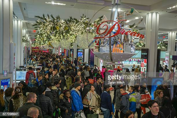 28th Nov 2014 Shoppers on Black Friday sales at Macy's Department Store in The Manhattan Borough of New York New York USA