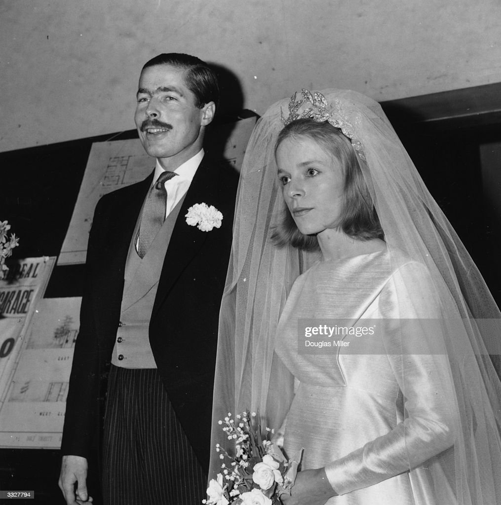 John Richard Bingham, Earl of Lucan, and Veronica Duncan after their marriage.