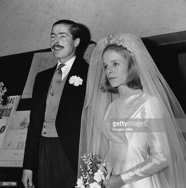 John Richard Bingham Earl of Lucan and Veronica Duncan after their marriage