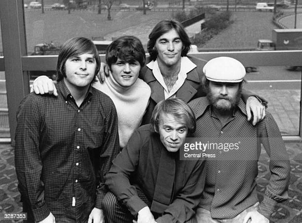Top American pop group The Beach Boys November 1968 comprising of Carl Wilson Bruce Johnston Dennis Wilson Al Jardine and Mike Love