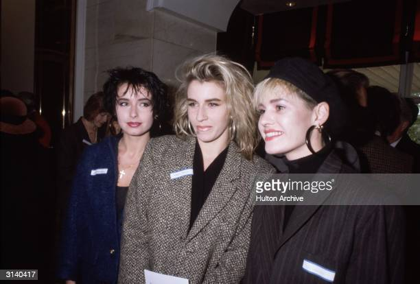 Pop group Bananarama at the 'Women of the Year' luncheon at the Savoy Hotel London Left to right Keren Woodward Sarah Dallin and Siobhan Fahey