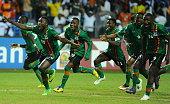 28th Orange Africa C of nationsCAN 2012 Equtorial Guinee Gabon Final Zambia vs Cote D'Ivoire Joie Emmanuel Mayuka
