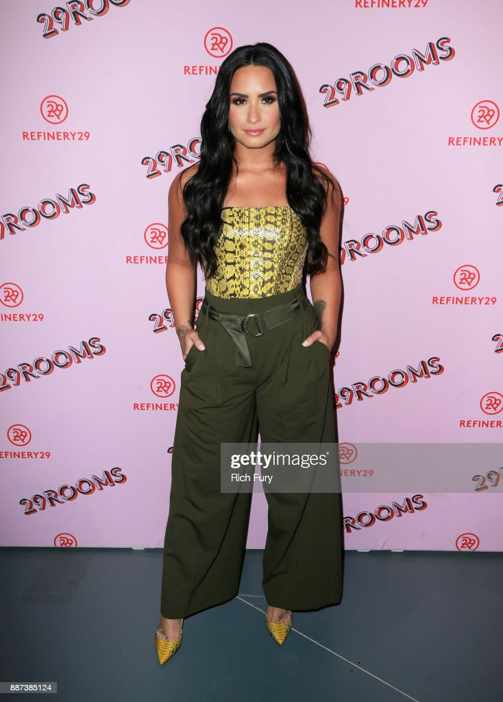 29Rooms Collaborator Demi Lovato attends Refinery29 29Rooms Los Angeles: Turn It Into Art Opening Night Party at ROW DTLA on December 6, 2017 in Los Angeles, California.