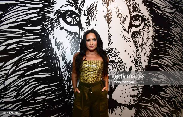 29Rooms Collaborator Demi Lovato attends Refinery29 29Rooms Los Angeles Turn It Into Art Opening Night Party at ROW DTLA on December 6 2017 in Los...