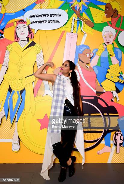29Rooms Collaborator Lilly Singh attends Refinery29 29Rooms Los Angeles Turn It Into Art Opening Night Party at ROW DTLA on December 6 2017 in Los...