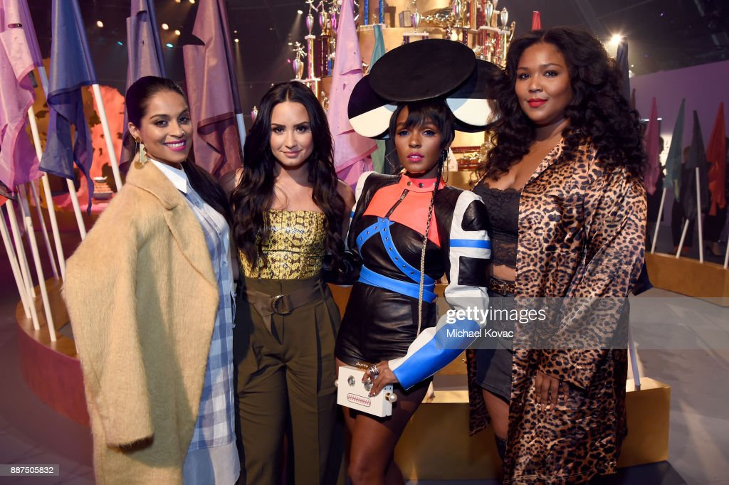 29Rooms Collaborators Lilly Singh, Demi Lovato, Janelle Monae, and Lizzo attend Refinery29 29Rooms Los Angeles: Turn It Into Art Opening Night Party at ROW DTLA on December 6, 2017 in Los Angeles, California.