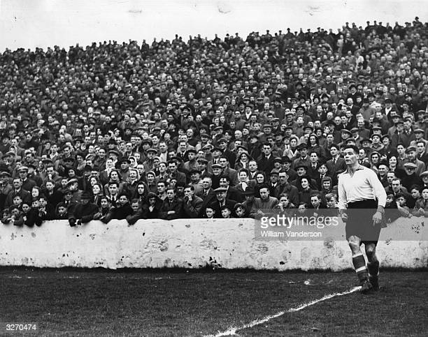Billy Liddell of Liverpool taking a corner during an FA Cup match against Burnley Original Publication Picture Post 5025 North V South For The Cup...