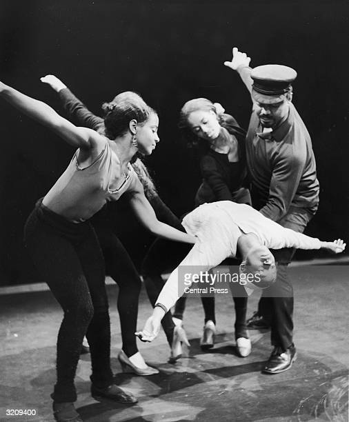 American dancer and choreographer Alvin Ailey performs on stage with his company the Alvin Ailey American Dance Theater at the Edinburgh Festival