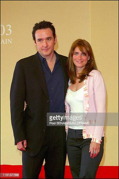 29th Deauville film festival John Cusack and Amanda Peet for 'Identity' in Deauville France on September 07 2003