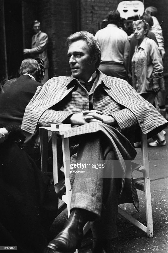 Actor, Christopher Plummer as Sherlock Holmes, during the filming of 'Murder by Decree' in Clink Street, London.