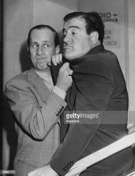 American comedy duo Bud Abbott and Lou Costello who starred in over 35 films