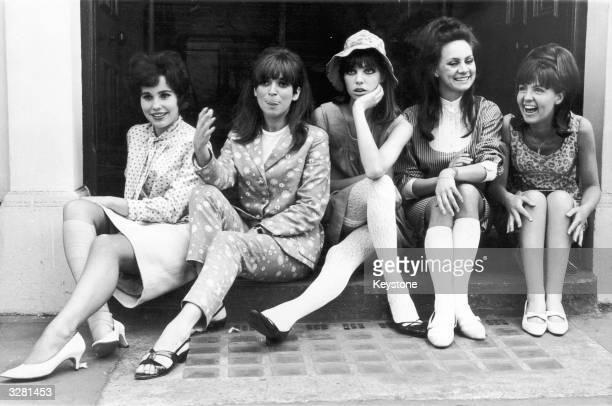 Actresses Karin Fernald Jean Muir Jane Birkin Francesca Annis and Pauline Collins who are appearing in the musical 'Passion Flower Hotel'