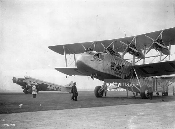 An Air France and Imperial Airways Short L17 airliner named 'Syrinx' pictured at Croydon Aerodrome