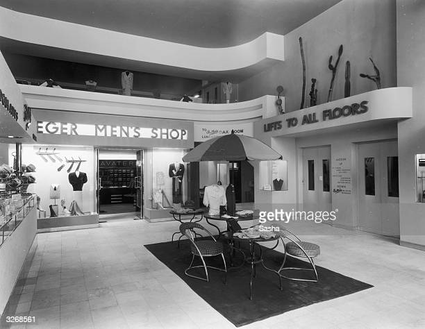 The men's department in the Jaeger store Regent Street London