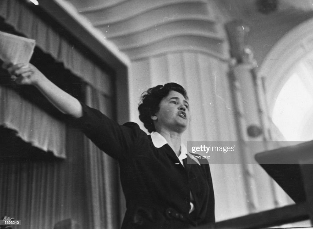 Scottish politician Jennie Lee speaking at a Labour Party Conference at Margate about her views on equal pay for women The day's conference ended...