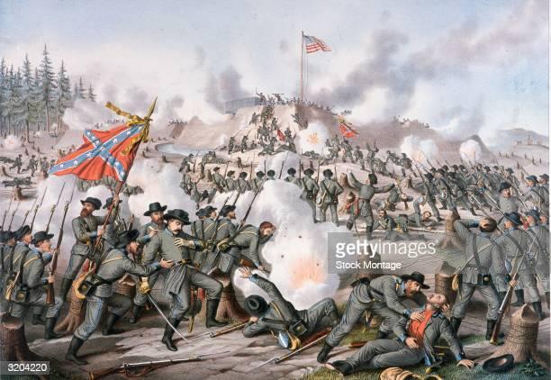US Civil War 186165 Confederate Lieutenant General James Longstreet led three brigades in an assault on General Ambrose Burnside's Union...