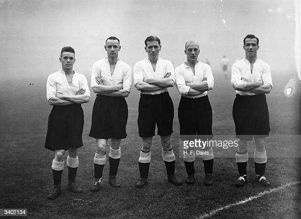Derby County Football Club's forward line allstar players all of whom play regularly for their respective countries shortly before the kick off...