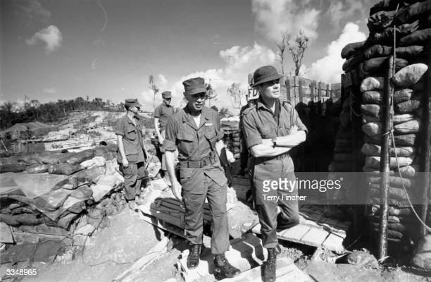 Lt Col Colin 'Mad' Mitchell with fellow soldiers during the Vietnam War