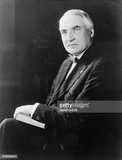 WARREN G HARDING 29th President of the United States Photographed early 1920s