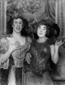 The ugly sisters in the pantomime 'Cinderella' running at the Grafton Theatre
