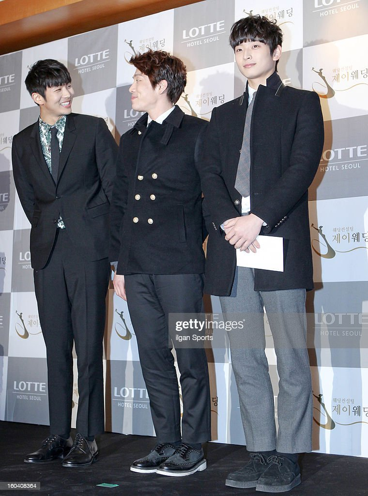 2am attend Sun's Wedding at lotte hotel on January 26, 2013 in Seoul, South Korea.
