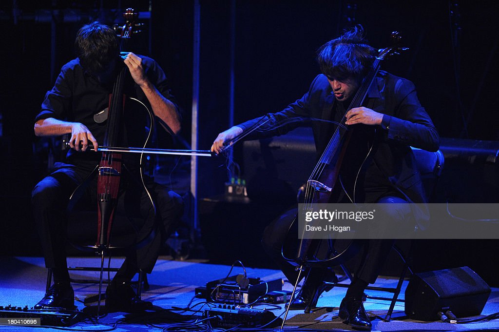 2Cellos perform at day 12 of the iTunes Festival 2013 at The Camden Roundhouse on September 12, 2013 in London, England.