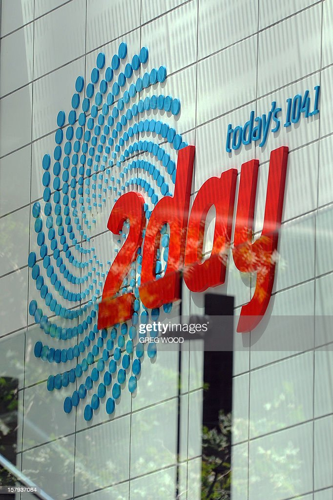 2Day FM radio station signage is displayed outside the station's building in Sydney on December 8, 2012. Australian radio presenters Mel Greig and Michael Christian from Sydney's 2Day FM who duped a woman working at a London hospital which treated Prince William's pregnant wife Catherine have been taken off air as public fury mounts after she was found dead. AFP PHOTO / Greg WOOD