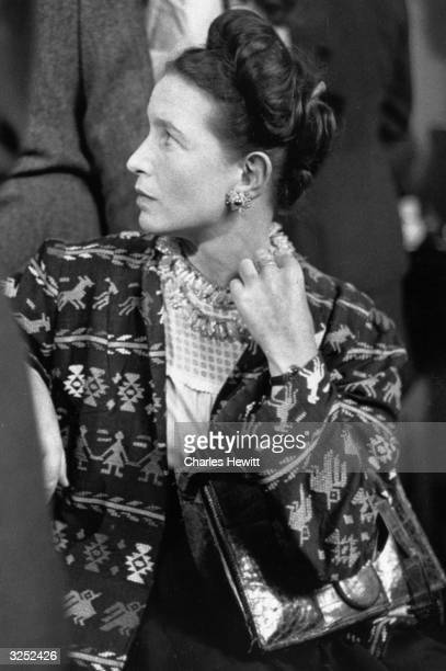Feminist writer Simone De Beauvoir who was a lifelong companion of JeanPaul Sartre Original Publication Picture Post 4411 A New Philosophy Or Is It...