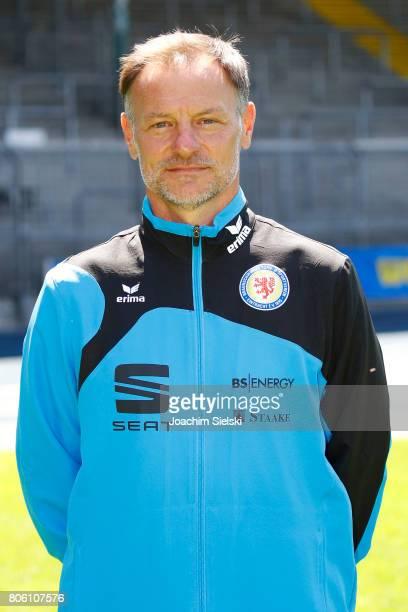 2nd Coach Darius Scholtysik of Eintracht Braunschweig poses during the official team presentation of Eintracht Braunschweig at Eintracht Stadion on...