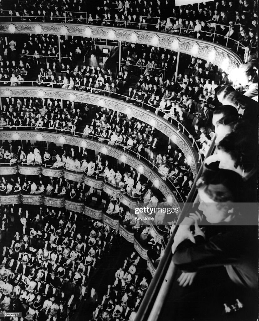 Old metropolitan opera house interior