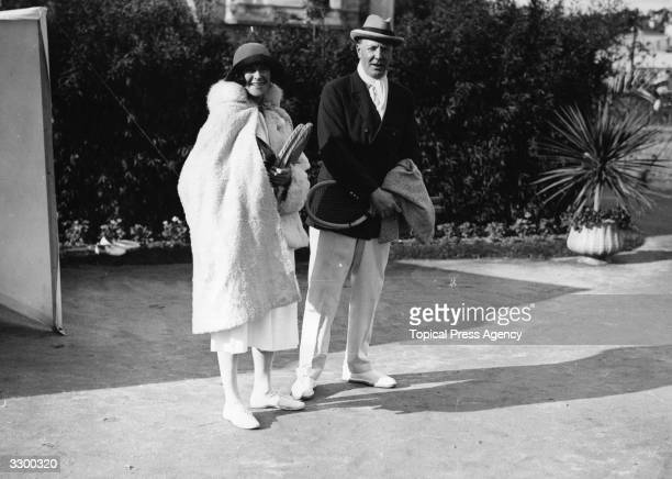 2nd Duke of Westminster Hugh Richard Arthur Grosvenor with a female friend at the Carlton Club in Cannes