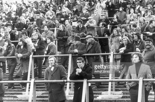 Arsenal fans on the terraces at Highbury for a game against Burnley