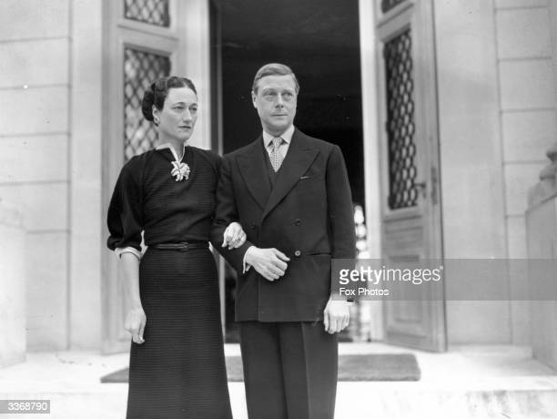 The Duke and Duchess of Windsor at their home the Villa La Croe in Cap D'Antibes Cannes in France where they spent the New Year