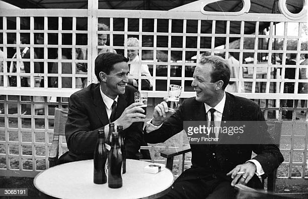Australian tennis players and Wimbledon finalists Roy Emerson and Fred Stolle