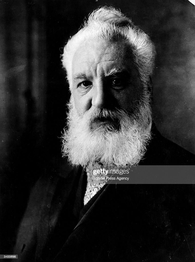 Scots-born American inventor of the telephone <a gi-track='captionPersonalityLinkClicked' href=/galleries/search?phrase=Alexander+Graham+Bell&family=editorial&specificpeople=114041 ng-click='$event.stopPropagation()'>Alexander Graham Bell</a> (1847 - 1922).