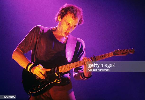 Mark Knopfler from Dire Straits performs live on stage during the Communique tour at Stadthalle in Freiburg Germany on 2nd June 1979
