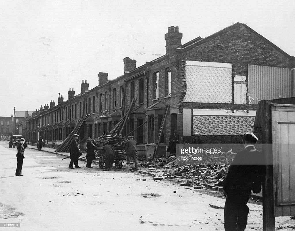 This terrace of houses is being demolished in Paxton Road Tottenham to make way for a new stand at the football ground in White Hart Lane. A two tier terrace will be erected in its place that will provide accommodation for 5,000 seated fans with 14,000 below it.