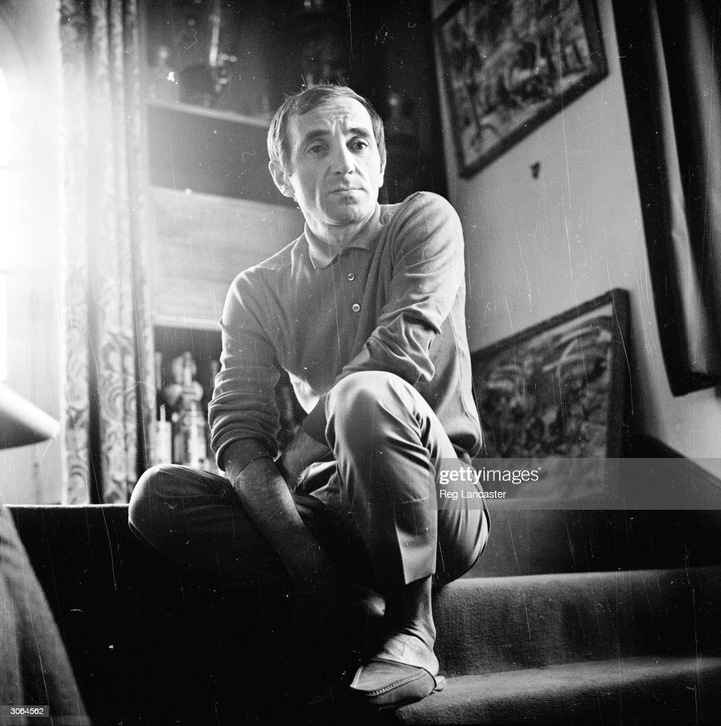 Singer songwriter Charles Aznavour in reflective mood